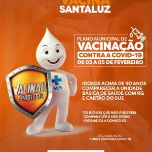 A Prefeitura de Santaluz, através da Secretaria de Saúde deu início a vacinação