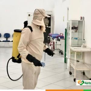 Prefeitura realiza ação de sanitização e desinfecção dos espaços públicos, ruas e avenidas