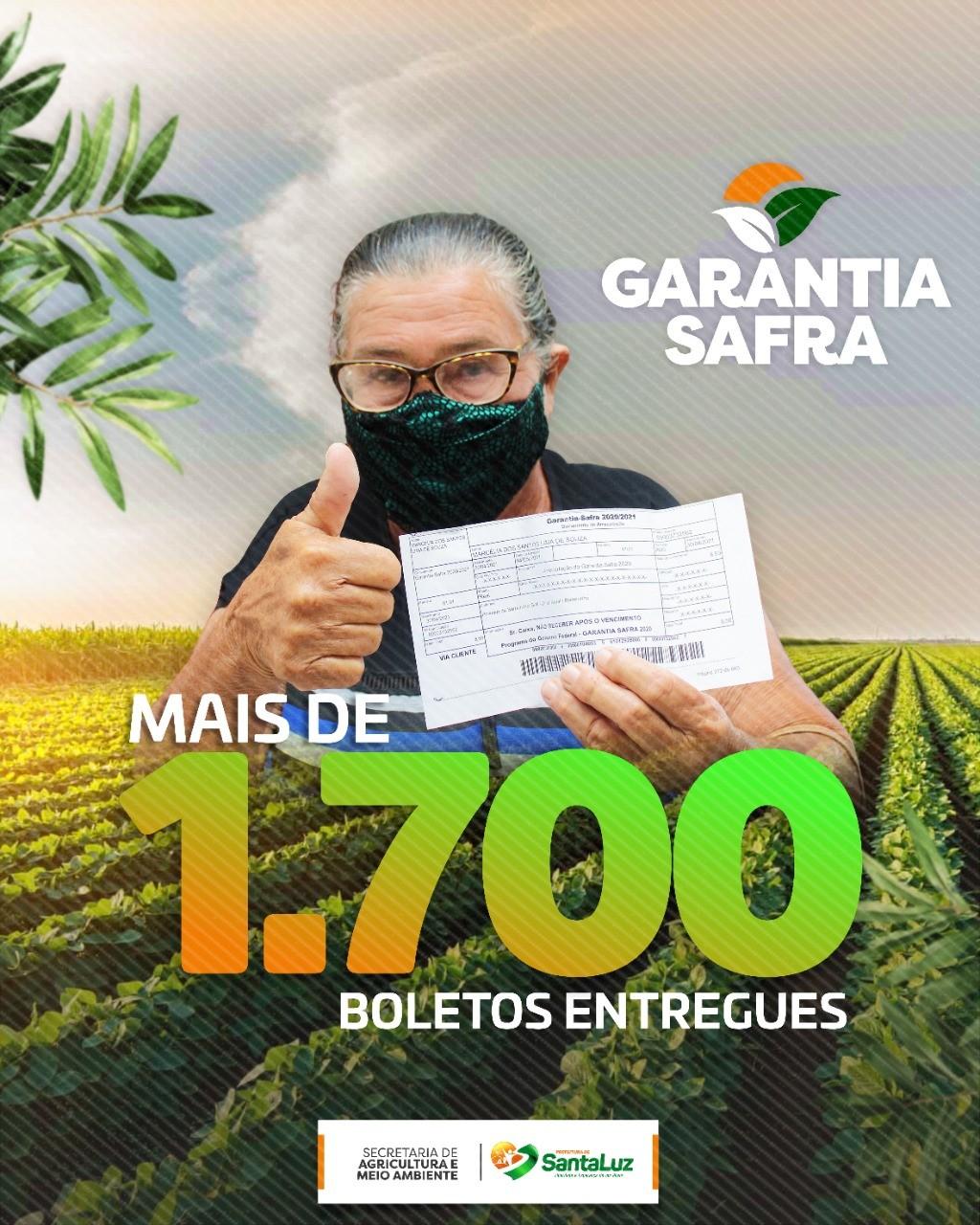 Secretaria entrega mais de 1.700 boletos do Garantia Safra