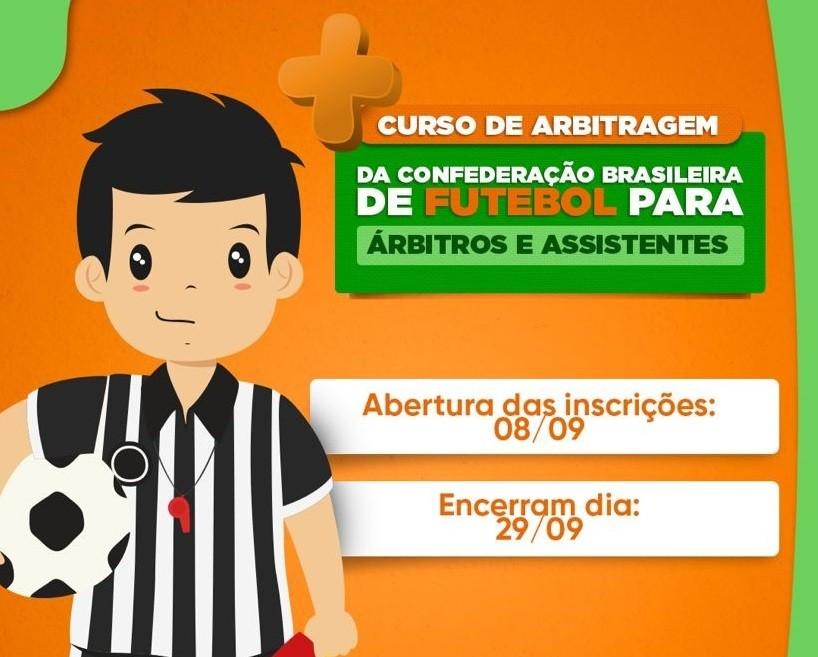 Prefeitura de Santaluz abriu inscrições para Curso de Arbitragem da CBF